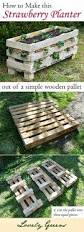 How To Make A Table Out Of Pallets How To Make A Better Strawberry Pallet Planter Lovely Greens