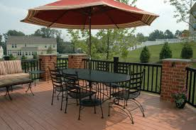 Patio Railing Designs Contemporary Black Metal Materials Deck Railing Designs With Brick