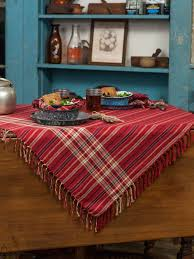 cinnamon plaid tablecloth attic sale linens kitchen attic
