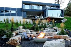 backyard designs modern fire pit home fireplaces firepits