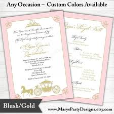 Sweet 16 Birthday Invitation Cards Quinceanera Invitation Sweet 15 16 Birthday Pink Gold