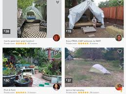 Tent Backyard Man Lists Tent In Backyard On Airbnb For 899 A Month Abc News
