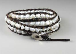 pearl clasp bracelet images B gt freshwater pearl leather 39 wrap 39 bracelet lt b gt rhodium plated jpg