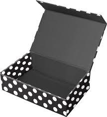 polka dot boxes snap n store snapnstore snap n store supply box black white