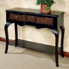 furniture console tables with storage black modern console table