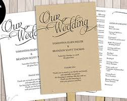 wedding program paddle fan template diy wedding paddle program template 100 fans paper sufficient