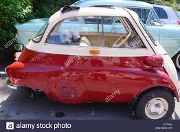 cars bmw red vintage car bmw isetta red colour stock photo royalty free image