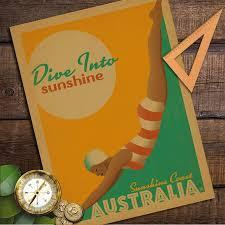 Vintage Home Decor Australia Online Shop Australia Sunshine Coast Vintage Retro Poster Kraft