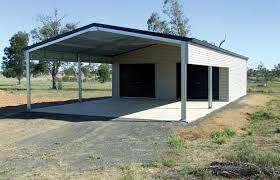Garage With Carport Garage Kits Wide Span Sheds