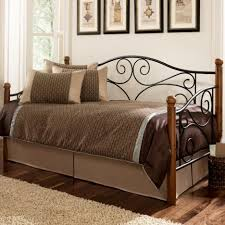 Ashley Home Furniture Furniture Iron And Wood Ashley Furniture Daybed With Chocolate