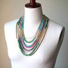 multi colored stones necklace images 2018 multi strand color natural chunky stone necklace statement jpg