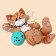 37 best cat ornaments images on cats cold porcelain