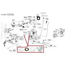 65 Mustang Interior Parts Scott Drake C4sz 6321801 C Mustang Door Latch Retainer 1965 66