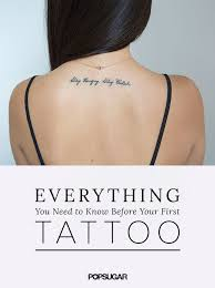 how to care for a tattoo popsugar beauty