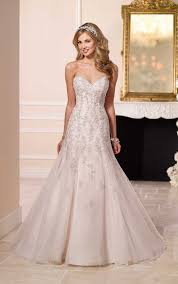 silver wedding dresses strapless silver lace wedding dresses stella york wedding dresses