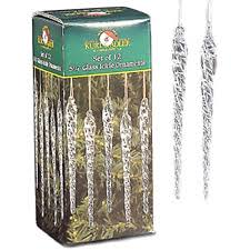 kurt adler clear twisted glass icicle ornaments set of 12 ebay