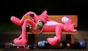 free photo pink panther drink alcohol free image