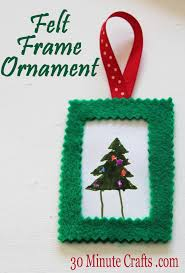 simple felt frame ornament 30 minute crafts