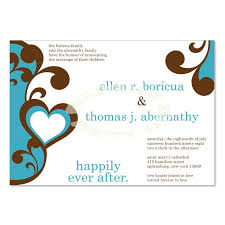 wedding announcements blue brown wedding announcement templates do it