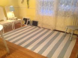 the beach house hand painted drop cloth rug