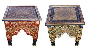 Moroccan Side Table Moroccan Hand Painted Square Side Table From Badia Design Inc