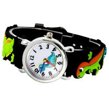 silicone bracelet watches images Pengnatate children watches waterproof strap 3d cartoon dinosaur jpg