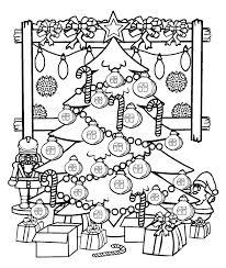 Sapin de Noël 33 Objets  Coloriages à imprimer