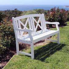 White Wood Outdoor Furniture by White Outdoor Benches Shop The Best Deals For Oct 2017