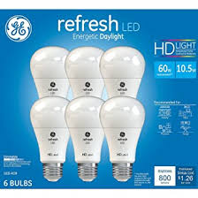 ge hd light refresh ge refresh high definition led light bulb 10 5 watt 5000k energetic