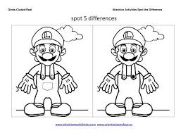 coloring pages spot the difference coloring pages