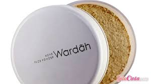Bedak Tabur Wardah Anti Acne bedak padat wardah untuk kulit berminyak dan berjerawat gitacinta
