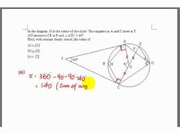 gce o level e maths angle properties of circle question youtube