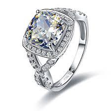 3 diamond rings 3 carat cushion cut luxury quality simulated diamond
