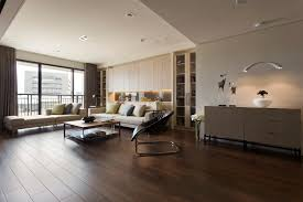 Hardwood Floor Apartment Living Room Wood Flooring Idea In Apartment With Papasan