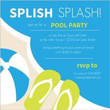 blue and green pool invite pool invitations