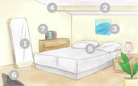Bedroom  Feng Shui Bedroom Diagram Painted Wood Area Rugs Floor - Feng shui bedroom furniture layout