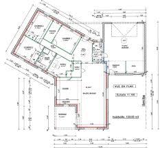 plan maison plain pied en l 4 chambres plan maison 4 chambres 130m2