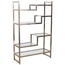 Silver Bookshelf Brass And Gold Plated Bookshelf Or Etagere Attributed To Maison