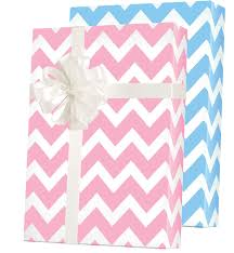 baby chevron reversible gift wrap innisbrook wrapping paper