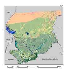 Africa Topographic Map by Ecoregions And Topography Of Chad West Africa