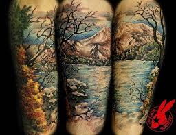 30 beautiful vibrant relaxing nature tattoos tattoodo