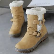 womens size 12 fur lined boots us size 5 12 fur lining keep warm buckle cotton boots
