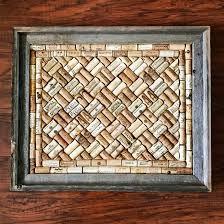 wine cork board in a barnwood frame rustic home decor true