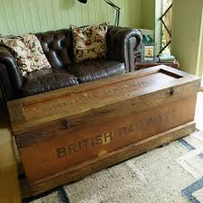 furniture rustic trunk coffee table for adding natural charm to