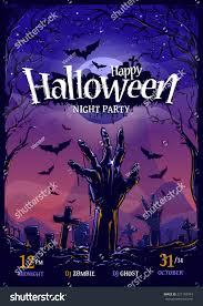 halloween background vertical free halloween vertical poster design template vector stock vector
