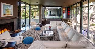 Leather Shag Rug Modern Living Room With French Doors By Specht Architects Zillow