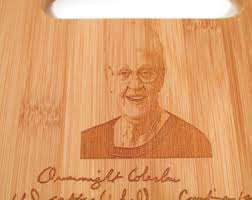 cutting board with recipe engraved add a second recipe to your handwritten engraved cutting board