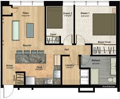 2 Bedroom Condo Floor Plan The Hillcrest Condos 2 Bedroom Condo
