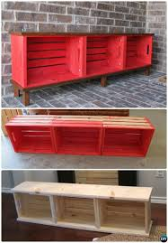 Diy Wooden Storage Bench by Best 25 Crate Bench Ideas On Pinterest Shoe Storage Shoe Bench