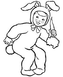 boy easter bunny costume coloring boys coloring
